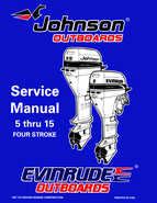 1998 Johnson Evinrude EC 5 thru 15 HP Four Stroke Service
