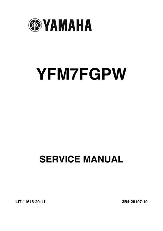 2007-2008 Yamaha YFM700 Grizzly Factory Service Manual