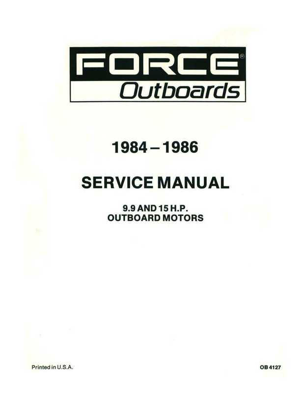 1984-1986 Mercury Force 9.9 and 15HP Outboards Service
