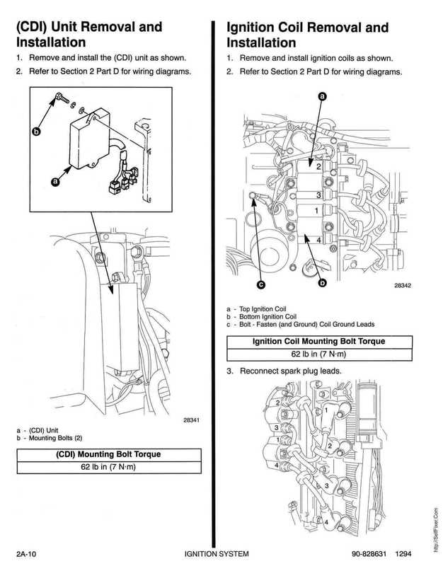 1995 Mariner Mercury Outboards Service Manual 50HP 4