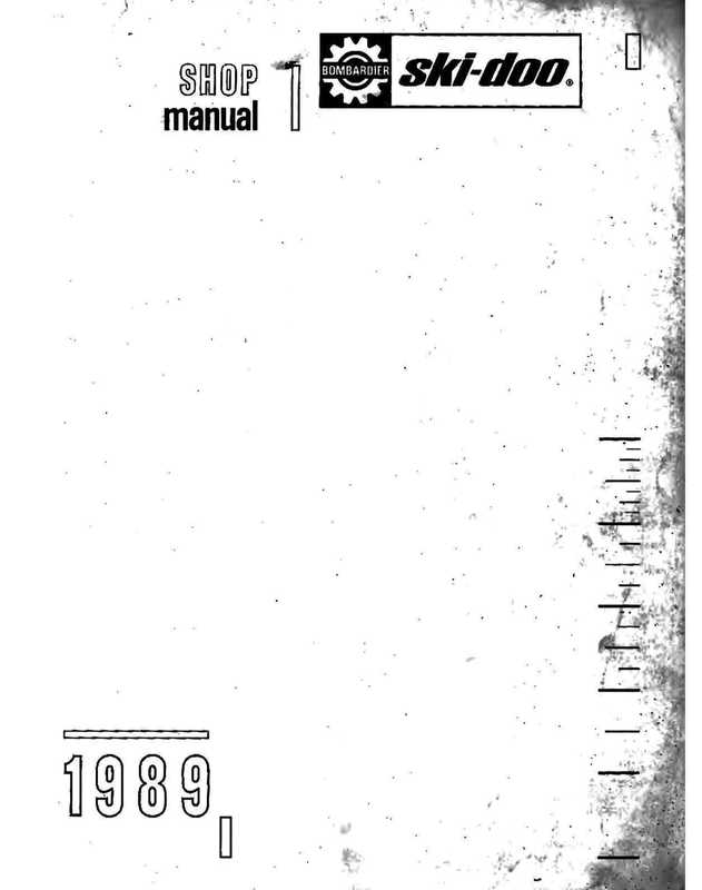 1989 Ski-Doo Repair Manual image 2 preview