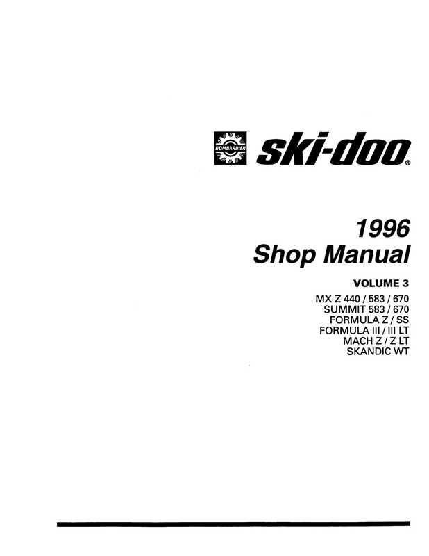 1996 Ski-Doo Shop Manual, Volume 3 image 2 preview