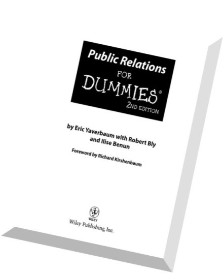 Download Public Relations For Dummies by Eric Yaverbaum