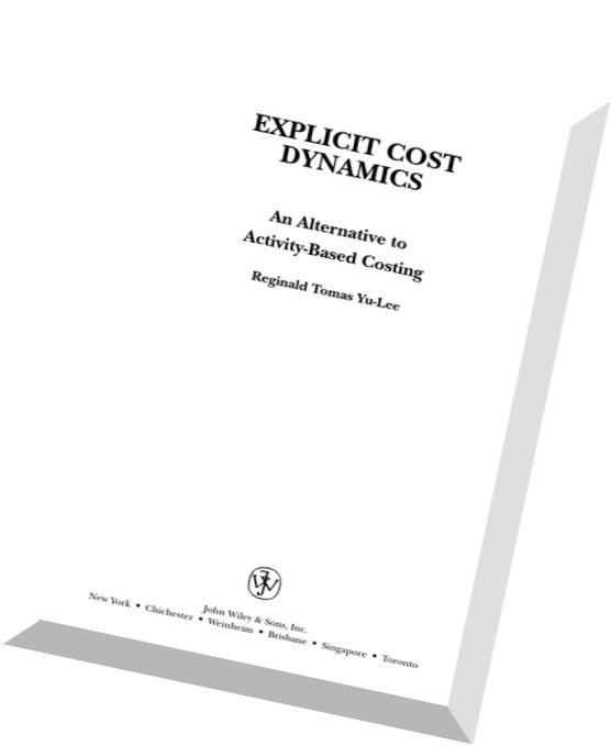 Download Explicit Cost Dynamics An Alternative to Activity