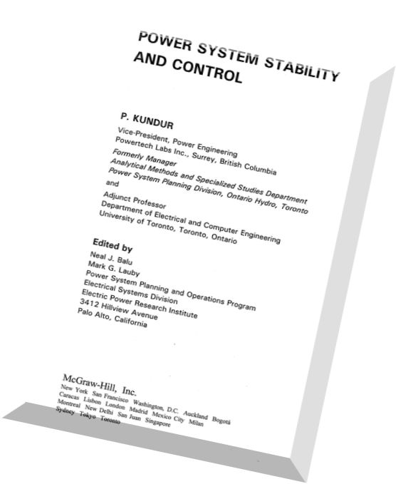 Power System Control And Stability Anderson Fouad Pdf