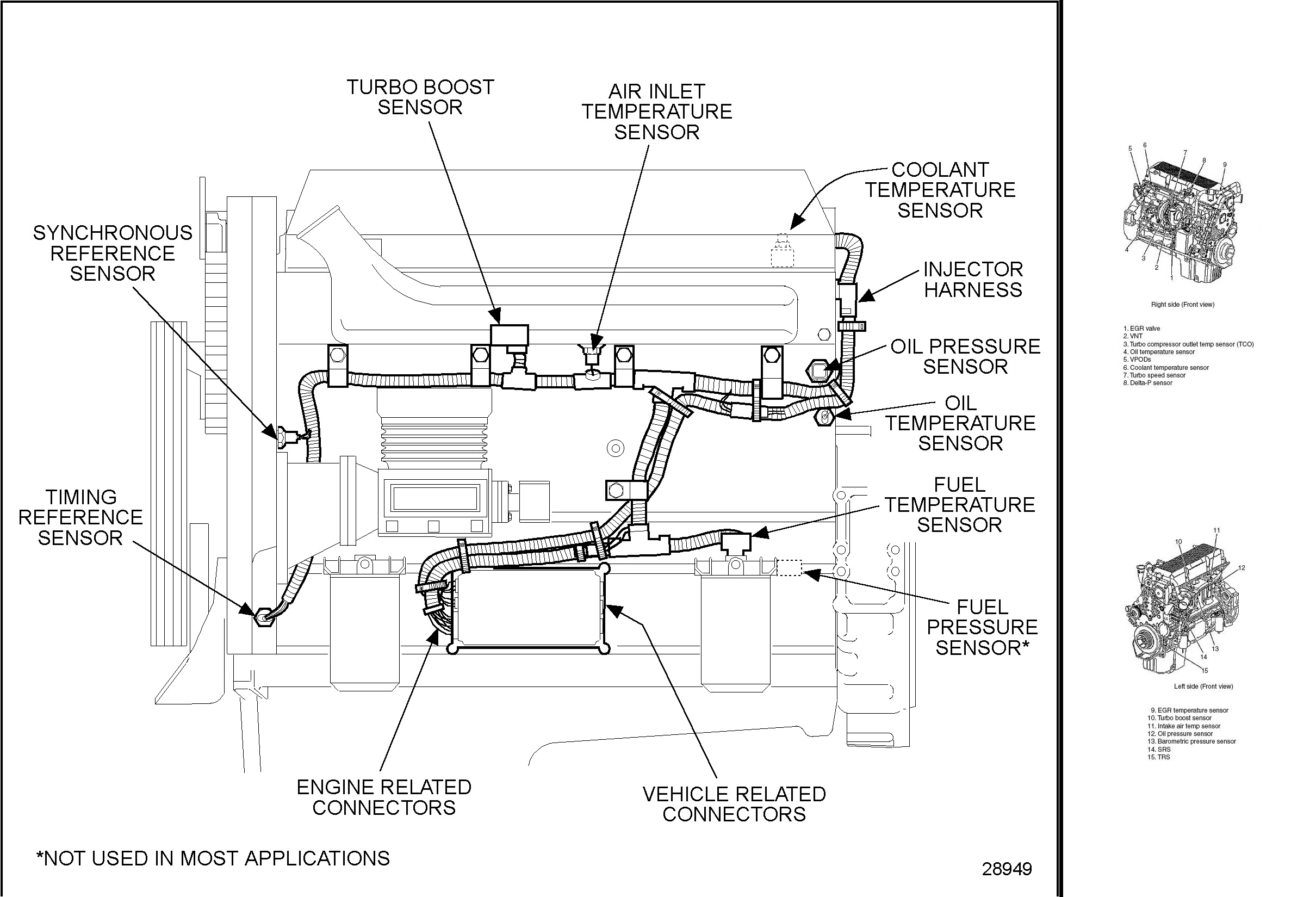 medium resolution of detroit diesel 60 engine sensors positions diagram
