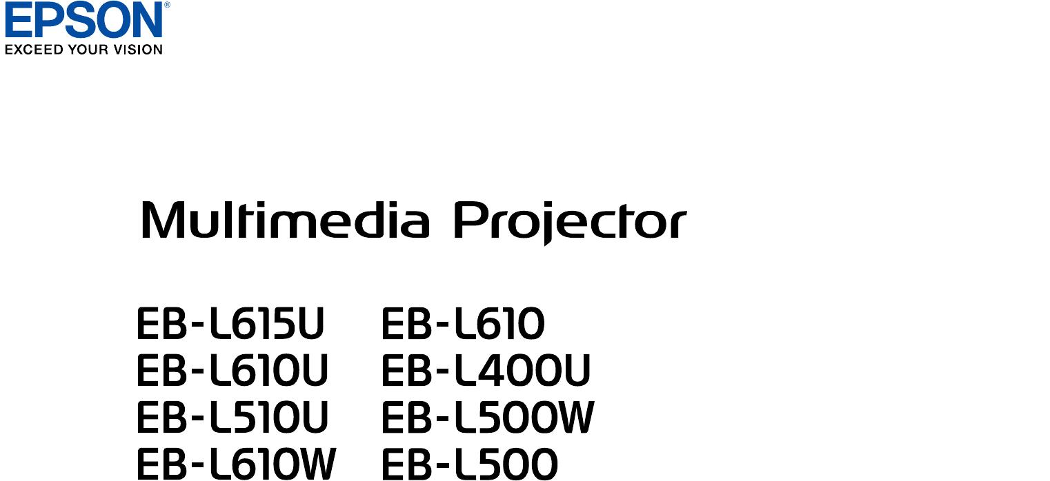 Manual Epson EB-L400U (225 sider)