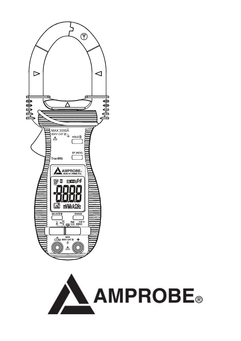 Amprobe ACD-15-PRO Multimeters Manual del usuario