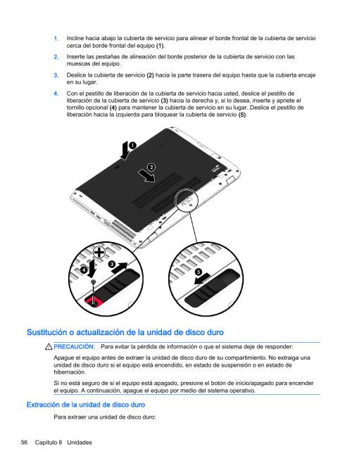 small resolution of extracci n de la unidad de disco duro hp pc notebook hp elitebook 745 g2 manual