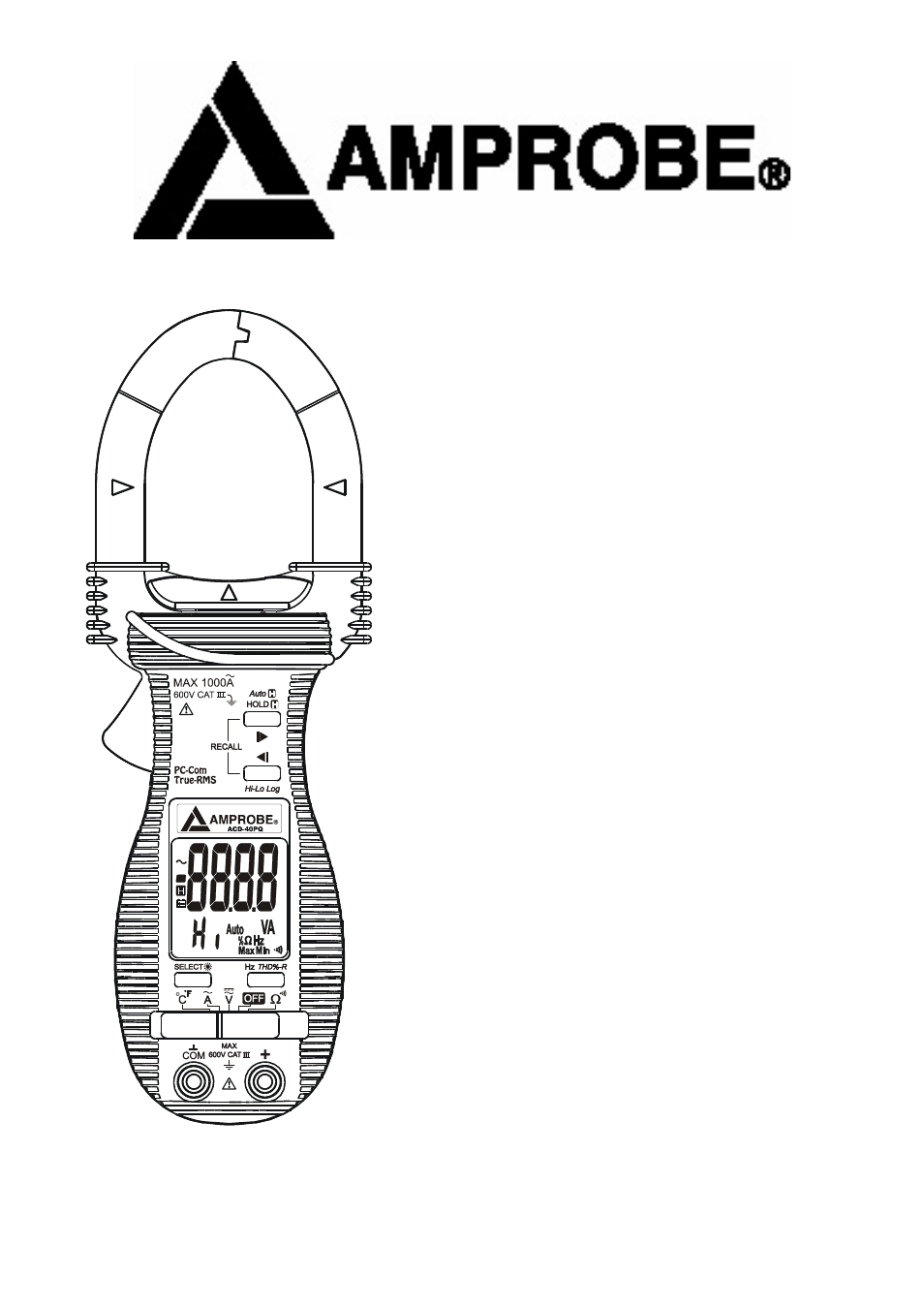 Amprobe ACD-16-PRO Clamp-Meters Manual del usuario