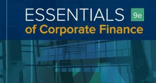 Essentials of Corporate Finance 9th edition pdf download