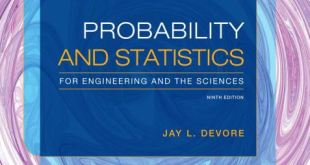 Probability ans Statistics for Engineering and the Sciences 9th Edition pdf download