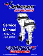 1998 Johnson Evinrude EC 5 thru 15 HP Four Stroke Service