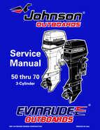 1998 Johnson Evinrude EC 50 thru 70 HP 3-Cylinder Service