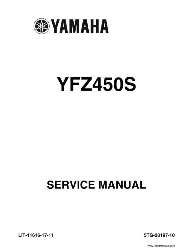2004 Official factory service manual for Yamaha YFZ450S