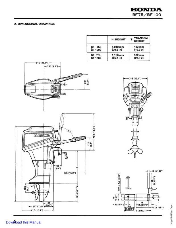 Honda BF75 BF100 Outboards Service Manual image 3 preview