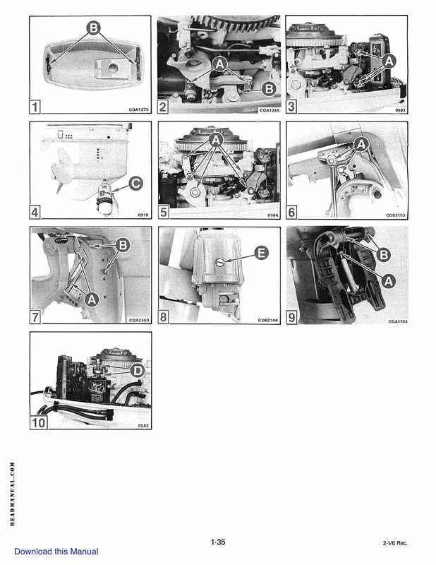 1985 Johnson/Evinrude 2 thru V-6 models service manual