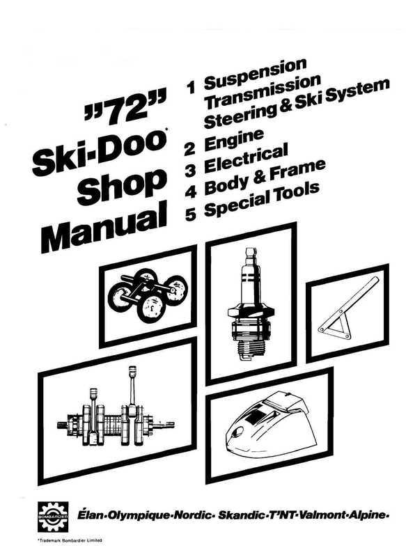 1972 Ski-Doo Shop Manual image 1 preview