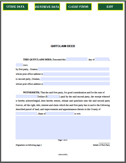 Quitclaim-Deed Safe Link Application Form Printable on for employment, generic employment, general job, bob evans, baby dedication, blank employment, safeway job, ihop job, dunkin donuts job, pizza hut job, day care,