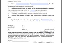 Creditor Affidavit Form