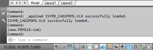 autocad-2d-to-pdms-draft-load-application-successfully
