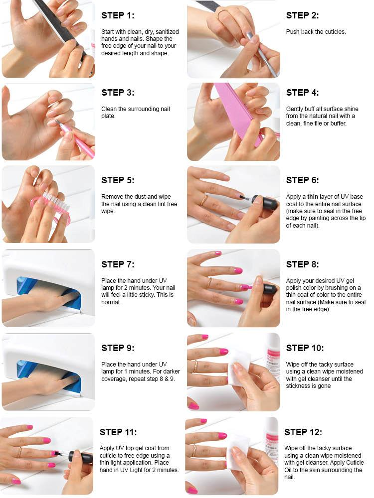 How To Apply The Gel Polish Remove Nail