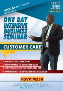 One Day Intensive Customer Care Seminar @ BEDCO Hall