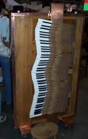 A sideways piano