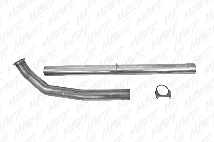 mbrp exhaust cdal439 4 downpipe cat and dpf delete pipe without bungs dodge cummins 6 7l 2007 5 2012 2500 3500
