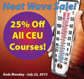 Heat Wave Sale - 25% Off CEUs!