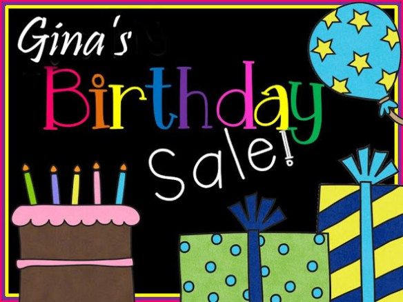 Gina's Birthday Sale