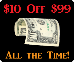 $10 Off $99 - All the Time!