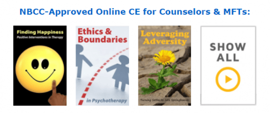 NBCC-Approved CE for Counselors & MFTs