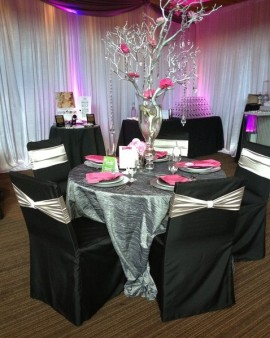 custom banquet chair covers step 2 table and chairs platinum designs specialty linens square top cover with a satin band