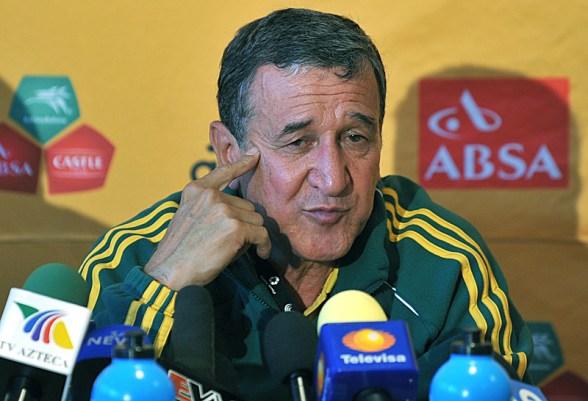 Coletiva do treinador da África do Sul(Bafana Bafana), o brasil