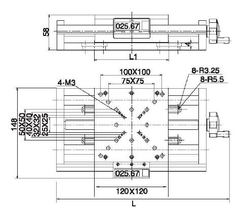 Digital Manual Stage, Linear Translation Platform, Manual