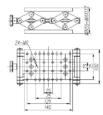 Precise Manual Lift, Z-axis Manual Lab Jack, PT-SD1711M