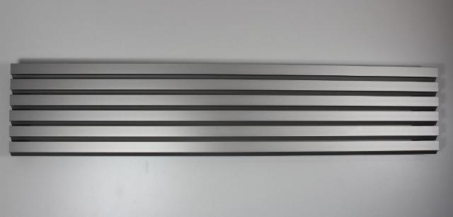 Lamellengitter aus Aluminium in Silber
