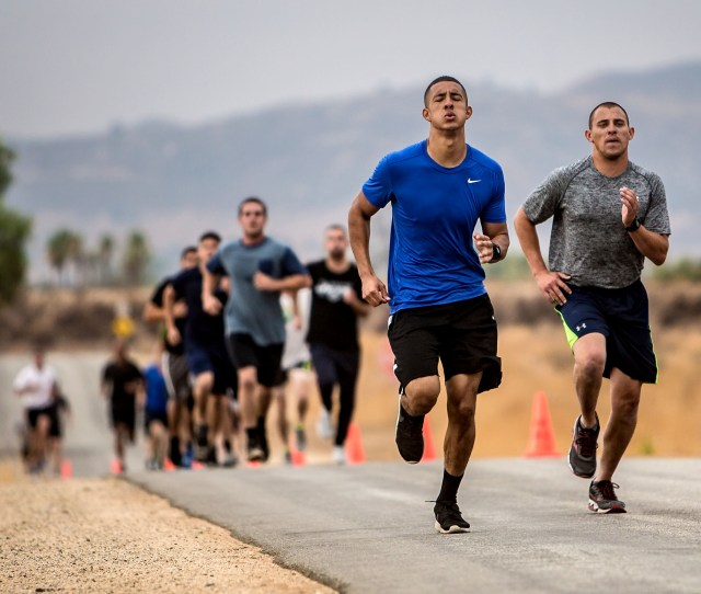 Applicants Run A   Mile Course During The Agility Test To Potentially Become New Riverside County Sheriffs Deputies At Ben Clark Public Safety Training