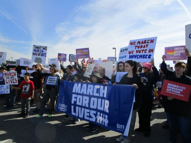 A March for Our Lives rally begins in Victorville on Saturday.Photo courtesy of Sara Lee