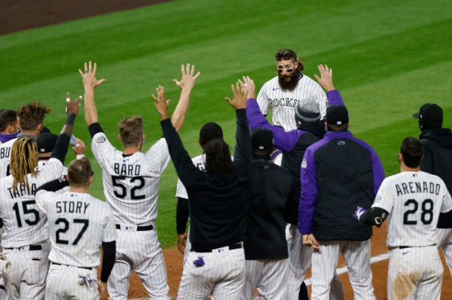 Anthony Bemboom's homer gave the Angels a one-run lead in the top of the ninth, but the Angels gave up five runs in the bottom of the inning, including a Charlie Blackmon grand slam against Jose Quijada.