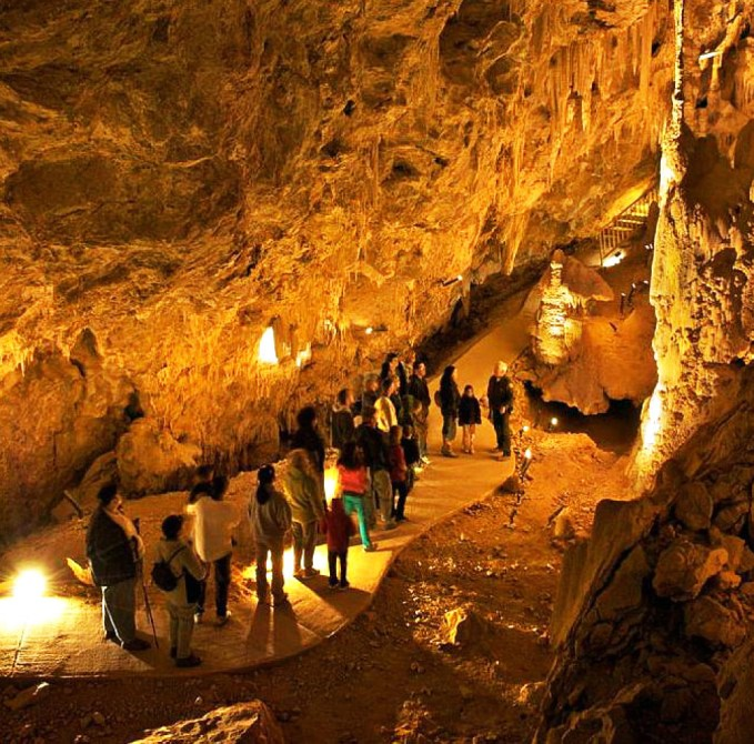 Mitchell Caverns one of Californias few show caves
