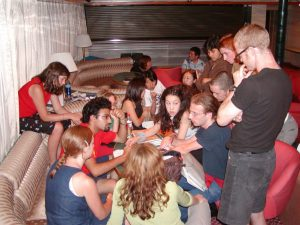 International Students from conflict areas including Israel, Palestine, Northern Ireland, Bosnia, and Serbia utilizing the ship as a neutral space for dialog.