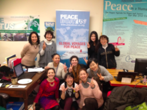 Peace Boat US volunteers and the guests from Japan.