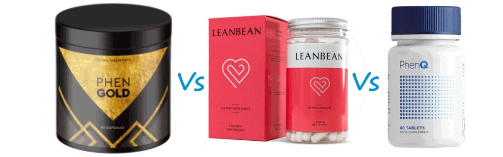 PhenGold vs Leanbean vs PhenQ
