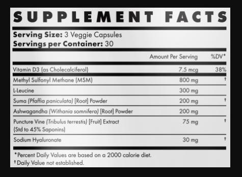 DBulk Supplement Facts