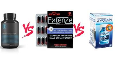 Extenze vs Performer 8 vs Zyrexin