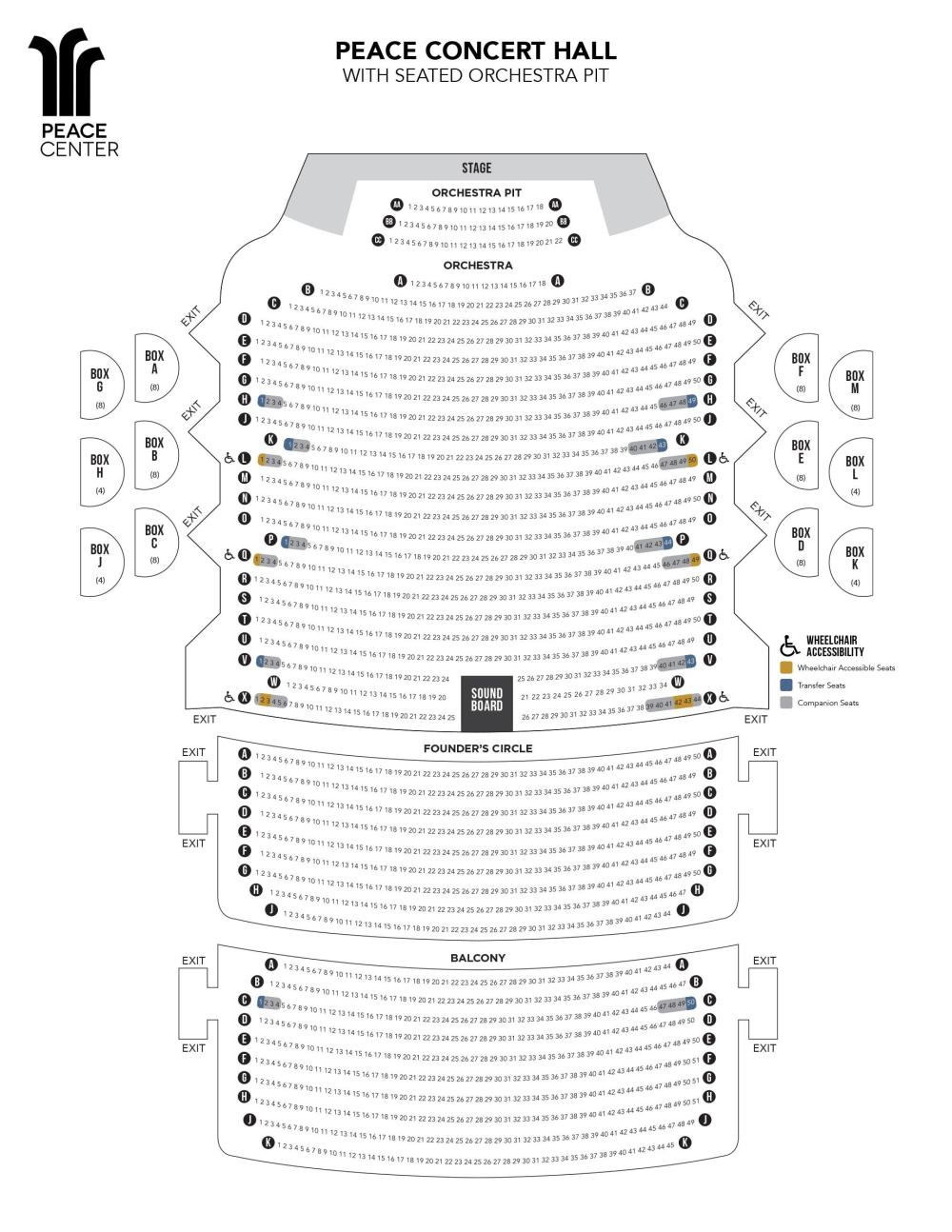 medium resolution of view the peace concert hall seating chart