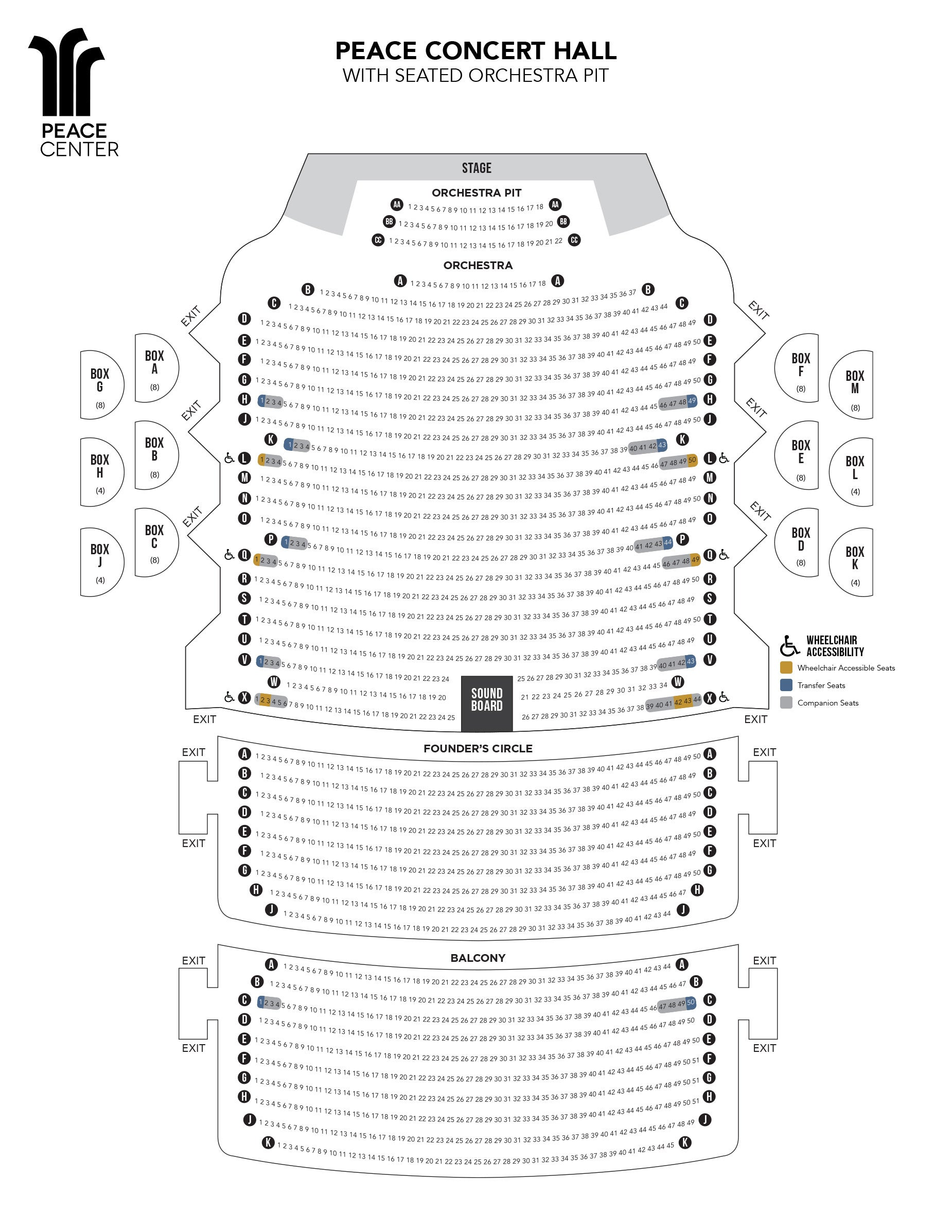 hight resolution of view the peace concert hall seating chart
