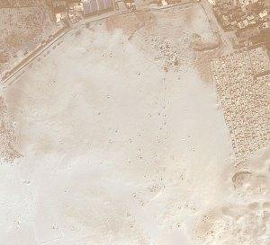 Satellite image of looting holes in South Abusir, Egypt February 15, 2011 Photo credit: Dr. Sarah Parcak, University of Alabama-Birmingham